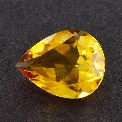 bbafe701ba90 1.39ctw 9x7x4.30mm Pear Yellow Citrine Excellent Eye Clean AAA+