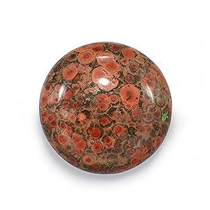 Poppy jasper Cabochons Natural stone { 36 x 21} mm 39 Ct #4648